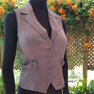 Pinstriped vest